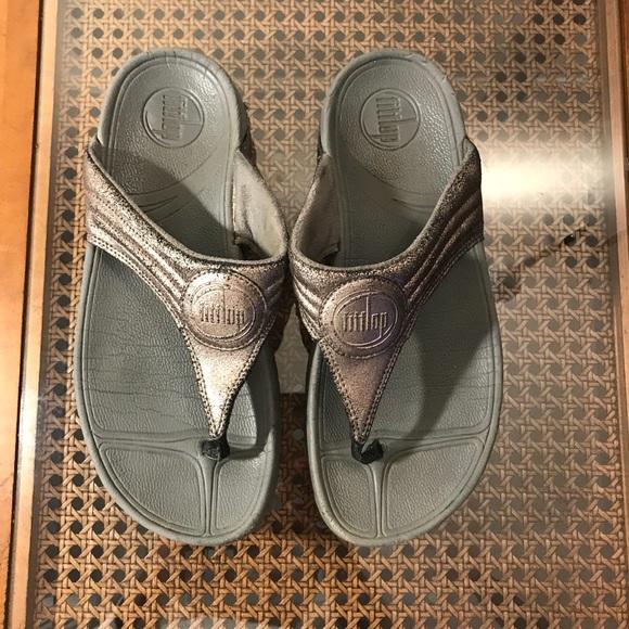 7024c11ec16d Fitflop Shoes - FitFlop Walkstar Crackle Flip Flop Sandal Sz 8